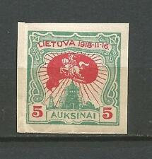 Lithuania Litauen 1920 MH Mi 75 Sc 80 2nd anniversary issue imperforated creased