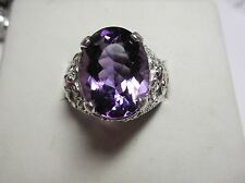 MENS 10.3CT  amethyst RUBY SET IN A STUNNING STERLING HANDSOME RING
