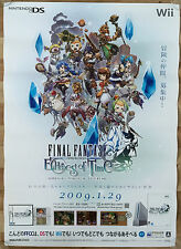 Final Fantasy Echoes of Time RARE Wii NDS 51.5 cm x 73 Japanese Promo Poster #1
