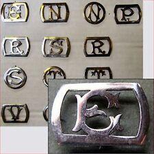 Monogramme initiale lettre maroquinerie cuir sceau pour ceinture sac reliure