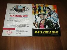 BROCHURE,1968, AL DI LA' DELLA LEGGE Lee Van CLEEF,SABATO,STEGANI,WESTERN ITALY