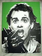 Canvas Painting Ghostbusters Peter Venkman Bill Murray Art 16x12 inch Acrylic
