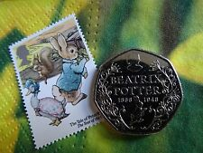 2016 RARE - Beatrix Potter 50 pence Coin / 150th Anniversary - great condition
