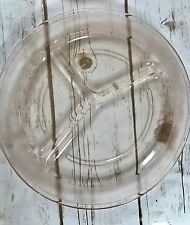 "Rare Pink Depression Glass Divided Cafeteria Dinner Lunch Plate, 11"" dia."
