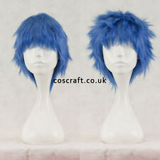 Breve Layered SOFFICI spikeable Cosplay Parrucca in blu cobalto Venditore UK Seller, Stile Jack
