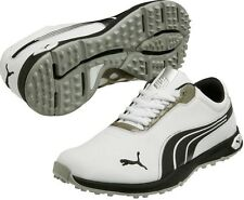 NEW MEN'S PUMA BIOFUSION SPIKELESS GOLF SHOES WHITE/BLACK 9 MEDIUM 187090-01