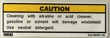 YAMAHA R1 R6 YZF-R1 YZF-R6 SCREEN CAUTION WARNING DECAL