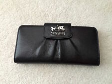 New Coach 41975 Madison Leather Slim Envelope Wallet (Black and Pink)