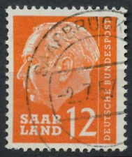 Saar 1957 SG#384, 12f President Heuss Definitive Used #A81313