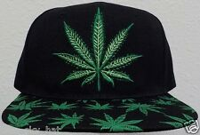 MARIJUANA CANNABIS CHRONIC KUSH POT HEMP LEAF PLANT WEED DOPE CAP HAT SNAPBACK