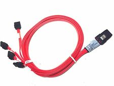LOT 2x Pack Molex Mini SAS SFF-8087 4 SATA iPass to Backplane Cable 79576-3007