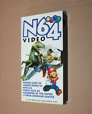 1997 Old Promo German Nintendo 64 N64 VHS Super Mario Kart Wave Race Turok etc