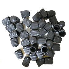 50 Pcs Black Car Truck Auto Plastic Wheels Tire Valve Stem Cap Lid Dust Cover