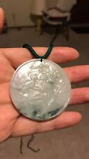 A nice round chinese A jade pendant necklace