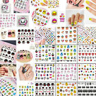3D Mixed Design Decal and Stickers Nail Art Acrylics Tips DIY Decoration Newest