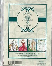 Mirabilia Assorted Greeting Cards 4 Designs/12 Blank Cards/Envelopes REDUCED