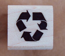 P24  Miniature recycle it symbol rubber stamp WM 0.5x0.5""