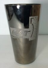 "Coca Cola Silvered ""Mercury Glass"" 5th Avenue Drinking Glass - RARE"