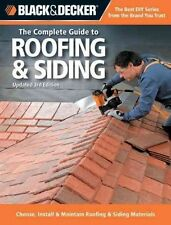 THE COMPLETE GUIDE TO ROOFING & SIDING - NEW PAPERBACK BOOK