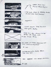 STAR TREK REPRO 1994 GENERATIONS STORYBOARD ARTWORK . KLINGON SHIP & ENTERPRISE