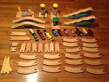 HUGE LOT THOMAS TRAIN WOODEN TRACK VEHICLES TOWER ACCESSORIES BRIDGES 55+ VGC NR