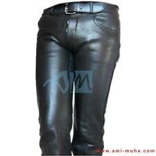 Men's Thick Cow Leather Jeans Model Pant