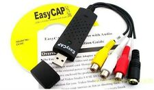 USB2.0 Plug-and-Play Analog Audio Video to Digital PC Capture EasyCap Device WGF