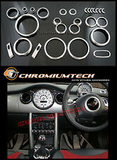 2001-2006 MK1 BMW Mini Cooper/Cooper S/Uno Interior De Cromo Dial Dash Kit 25pc.