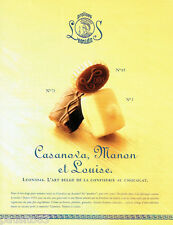 PUBLICITE ADVERTISING 036  1999  Pralines Leonidas  chocolats  Louise Manon Casa
