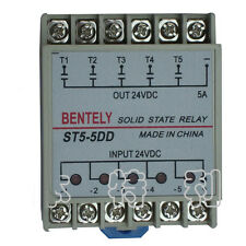 1PCS SSR Solid State Relay ST5-5DD 5 Phase 5A 24VDC DIN Rail Mount DC to DC