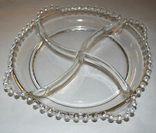 "VINTAGE IMPERIAL CANDLEWICK 8 1/2"" 4 HANDLE RELISH TRAY 400/55"