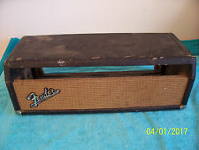 Vintage 1963 Fender Bandmaster  amplifier  tube amp head Cabinet used  White