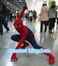 Spiderman Cartoon Mascot Costume Holiday Fancy Dress Free Shipping Adult SP001