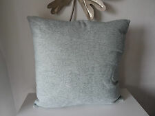"Duck egg blue cushion Eau De Nil 172x17"" chenille brand new"