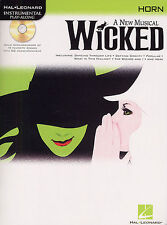 WICKED A New Musical Horn Sheet Music Book Play CD NEW