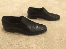 BALLY OF SWITZERLAND DANTE Black Leather Slip On Loafer Size 12 D