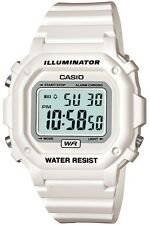 Casio Mens White Digital Sports F-108WHC-7BEF Chronograph Watch Brand New