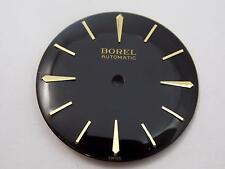 Ernest Borel Automatic Mens Vintage Watch Dial Black 28.5mm Gold Stick & Arrw Mr