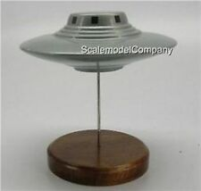 Pleiadian UFO Saucer Kiln Dry Desk Wood Model Spaceship