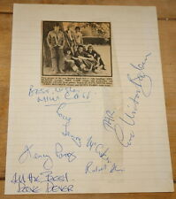 ERIC BURDON BAND FULLY HAND SIGNED AUTOGRAPH MOUNTING PAGE 1976 ANIMALS WAR