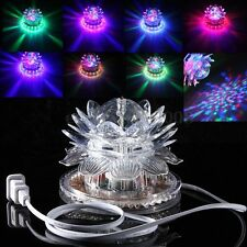 Auto Rotating 48 LED RGB Crystal Projector Stage Lotus Effect Light Disco Club