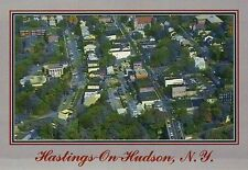Hastings-on-Hudson New York, Warburton Avenue Main Street, Village Hall Postcard