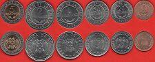 Bolivia set of 6 coins: 10 centavos - 5 bolivianos 2008-2012 UNC