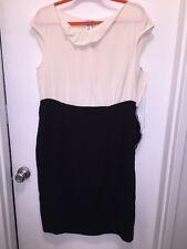 lk bennett dress Black&Cream US 14 NWOT Office classic