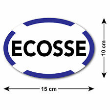 Ecosse Car Sticker with Scottish Saltire Border - For Scots Travelling Abroad