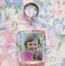 100x Blank Acrylic Keyrings 57x46mm Frame & 45x35mm Photo Size (key ring) 95457