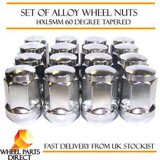 Alloy Wheel Nuts (16) 14x1.5 Bolts Tapered for Hummer H2 02-10
