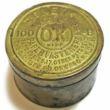 SoniaMcD's Trashed Out Treasures--Vintage Washburn Paper Fasteners Tin