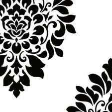 York  White and Black Scattered  Damask Wallpaper - BW28736