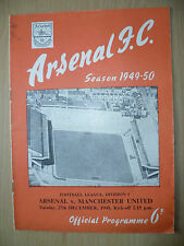 Football League Division One 1950- ARSENAL v MANCHESTER CITY, 27th December